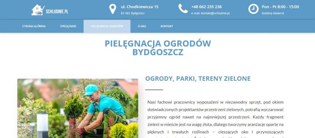 PIELĘGNACJA OGRODÓW BYDGOSZCZ - Schludnie.pl