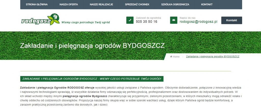 Zakładanie i pielęgnacja ogrodów BYDGOSZCZ